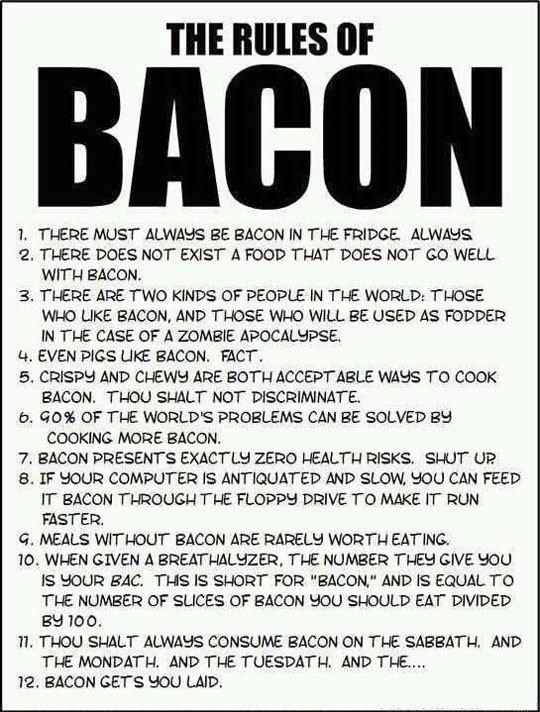 The Rules of Bacon Rulesofbacon